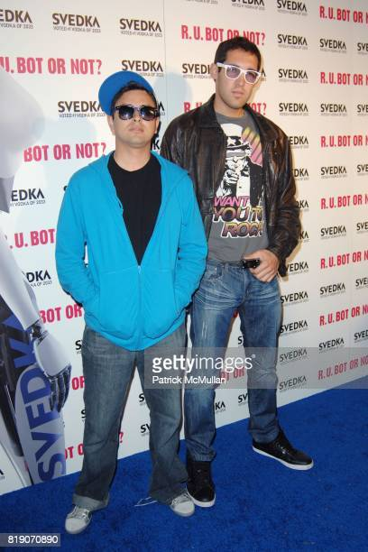 Louie Rubio and Lex Larson attend KIM KARDASHIAN vs KOURTNEY KARDASHIAN at SVEDKA VODKA'S 'RU BOT OR NOT' BATTLE OF THE BOTS at Wonderland on May 22...