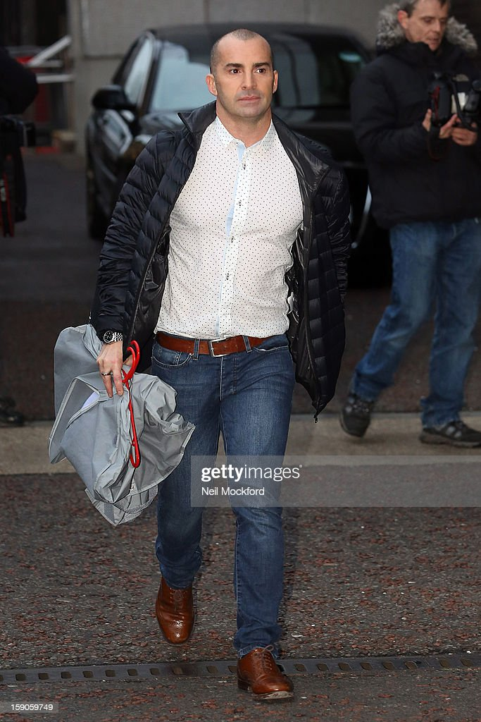 Louie Spence seen at the ITV Studios on January 7, 2013 in London, England.