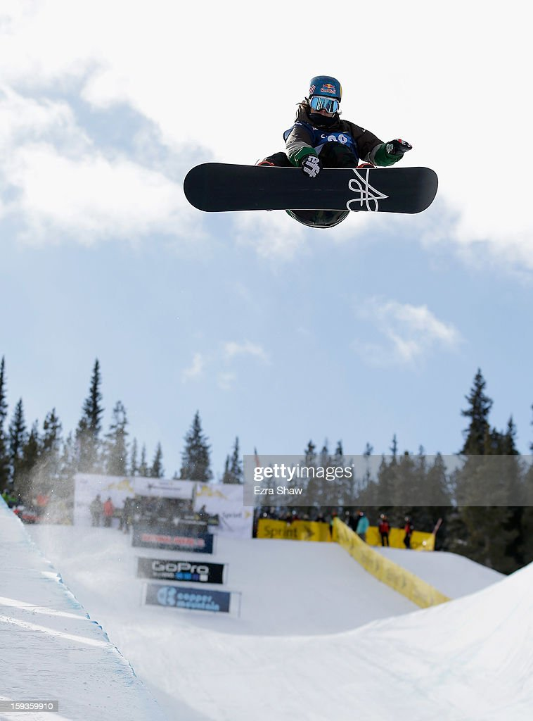 <a gi-track='captionPersonalityLinkClicked' href=/galleries/search?phrase=Louie+Vito&family=editorial&specificpeople=787538 ng-click='$event.stopPropagation()'>Louie Vito</a> competes in the FIS Snowboard World Cup Half Pipe men's finals at the US Grand Prix on January 12, 2013 in Copper Mountain, Colorado.