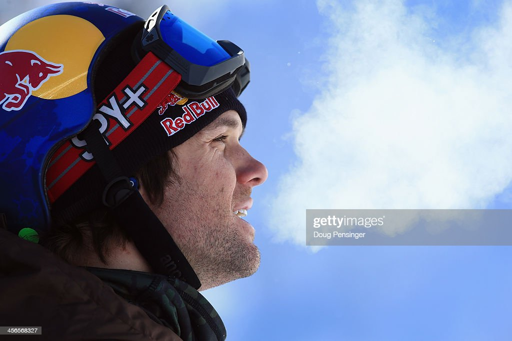 Louie Vito looks on as he finished fourth in the men's snowboard superpipe final at the Dew Tour iON Mountain Championships on December 14, 2013 in Breckenridge, Colorado.