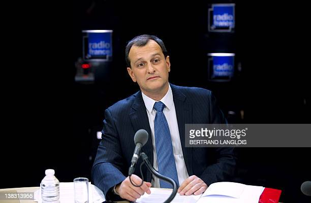 Louis Aliot operations director and spokesman of France's farright National Front party candidate for the 2012 presidential election and party's...