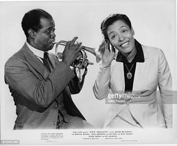 Louis Armstrong and Billie Holiday studio portrait United States studio portrait United States from the motion picture New Orleans