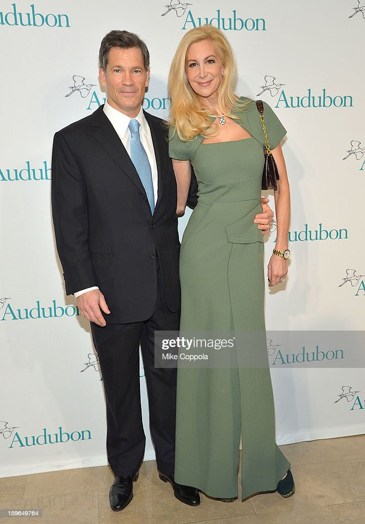 Louis Bacon (L) and Gabrielle Bacon the 2013 National Audubon Society Gala Dinner on January 17, 2013 in New York, United States.