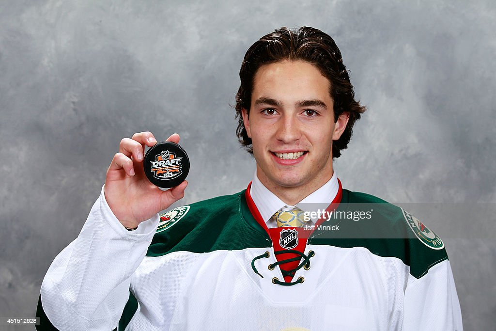 Louis Belpedio, 80th overall pick of the Minnesota Wild, poses for a portrait during the 2014 NHL Entry Draft at Wells Fargo Center on June 28, 2014 in Philadelphia, Pennsylvania.