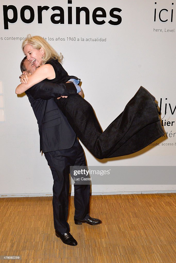 Louis Benech and Renate Graf attend the 'Societe des amis du Musee D'Art Moderne' : Annual Dinner. Held at Centre Pompidou on March 11, 2014 in Paris, France.