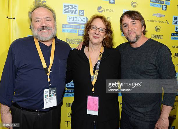 Louis Black cofounder SXSW Janet Pierson producer SXSW Film Festival and director Richard Linklater attend the screening for 'Before Midnight' during...