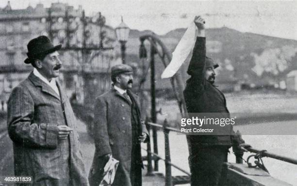 Louis Blériot on the pier at Dover after his flight across the English Channel 25 July 1909 French aviator Blériot took off from the French village...