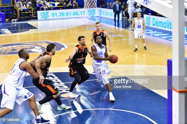 Louis Campbell of Levallois during the EuropCup match between Levallois Metropolitans and Cedevita Zagreb at Salle Marcel Cerdan on November 8 2017...