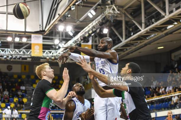 Louis Campbell of Levallois during the Pro A match between Levallois Metropolitans and Boulazac at Salle Marcel Cerdan on October 21 2017 in Paris...
