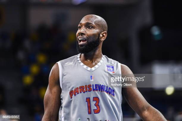 Louis Campbell of Paris Levallois during the Pro A match between Paris Levallois and Hyeres Toulon on April 15 2017 in LevalloisPerret France