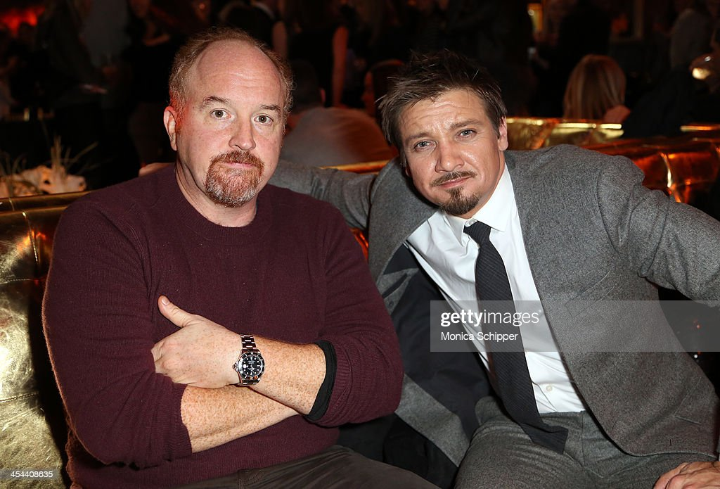<a gi-track='captionPersonalityLinkClicked' href=/galleries/search?phrase=Louis+C.K.&family=editorial&specificpeople=2538284 ng-click='$event.stopPropagation()'>Louis C.K.</a> (L) and <a gi-track='captionPersonalityLinkClicked' href=/galleries/search?phrase=Jeremy+Renner&family=editorial&specificpeople=708701 ng-click='$event.stopPropagation()'>Jeremy Renner</a> attend the after party for Grey Goose Vodka and Vanity Fair present in part the world premiere of Columbia Pictures And Annapurna Pictures 'American Hustle' at Cipriani on December 8, 2013 in New York City.