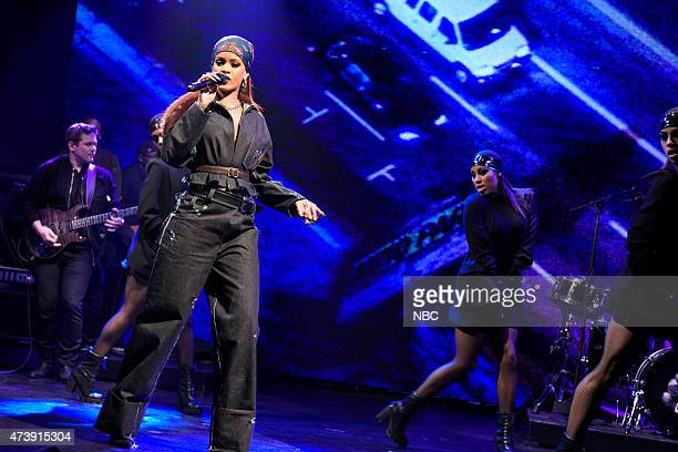 LIVE 'Louis CK' Episode 1683 Pictured Musical guest Rihanna performs on May 16 2015