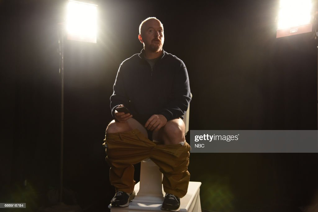 LIVE -- 'Louis C.K.' Episode 1721 -- Pictured: Host Louis C.K. during the 'Tribute Song' sketch on April 8, 2017 --
