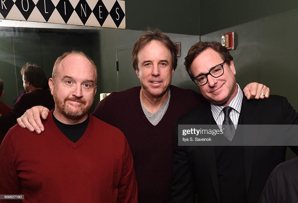 <a gi-track='captionPersonalityLinkClicked' href=/galleries/search?phrase=Louis+C.K.&family=editorial&specificpeople=2538284 ng-click='$event.stopPropagation()'>Louis C.K.</a>, <a gi-track='captionPersonalityLinkClicked' href=/galleries/search?phrase=Kevin+Nealon&family=editorial&specificpeople=214104 ng-click='$event.stopPropagation()'>Kevin Nealon</a>, and <a gi-track='captionPersonalityLinkClicked' href=/galleries/search?phrase=Bob+Saget&family=editorial&specificpeople=209388 ng-click='$event.stopPropagation()'>Bob Saget</a> attend Cool Comedy - Hot Cuisine, A Benefit For The Scleroderma Research Foundation at Carolines On Broadway on December 8, 2015 in New York City.