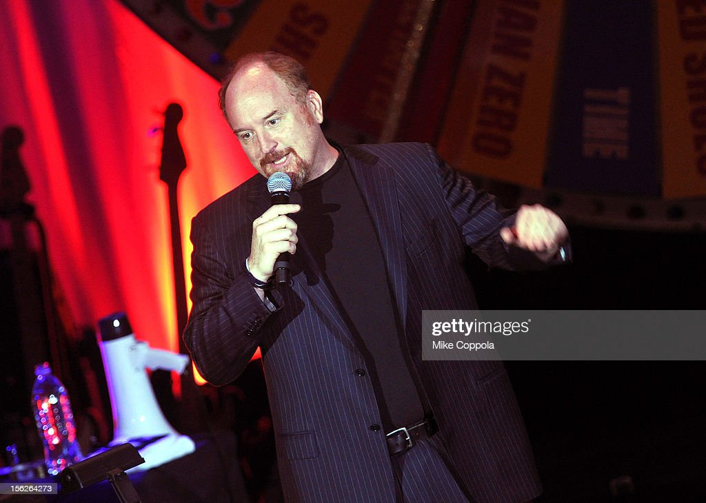 <a gi-track='captionPersonalityLinkClicked' href=/galleries/search?phrase=Louis+C.K.&family=editorial&specificpeople=2538284 ng-click='$event.stopPropagation()'>Louis C.K.</a> performs onstage at the 2012 A Funny Thing Happened On The Way To Cure Parkinson's event at The Waldorf=Astoria on November 10, 2012 in New York City benefitting The Michael J. Fox Foundation for Parkinson's Research.