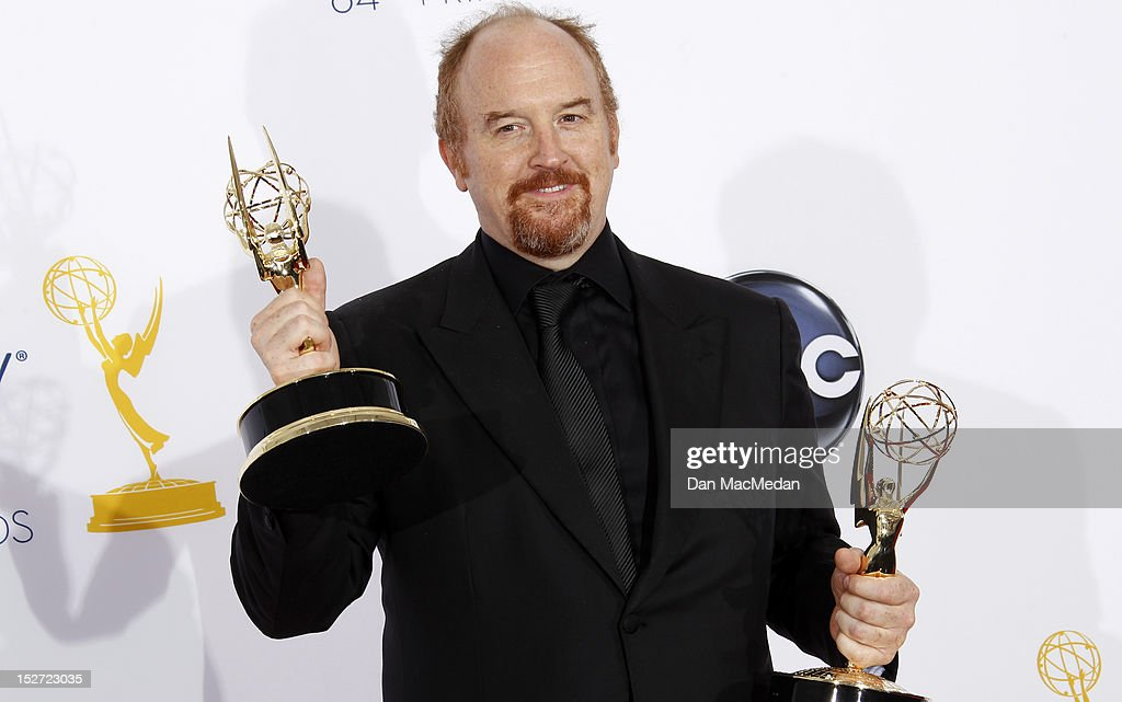 <a gi-track='captionPersonalityLinkClicked' href=/galleries/search?phrase=Louis+C.K.&family=editorial&specificpeople=2538284 ng-click='$event.stopPropagation()'>Louis C.K.</a> poses in the press room at the 64th Primetime Emmy Awards held at Nokia Theatre L.A. Live on September 23, 2012 in Los Angeles, California.