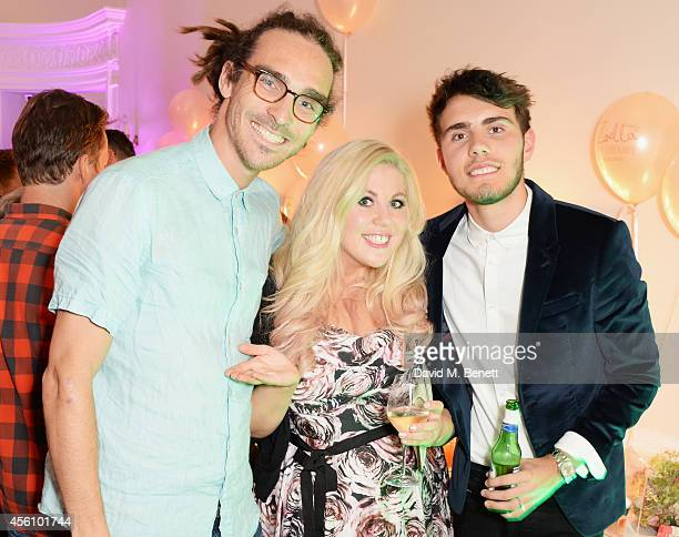Louis Cole Louise Pentland and Alfie Deyes attend YouTube phenomenon Zoe Sugg's launch of her debut beauty collection at 41 Portland Place on...