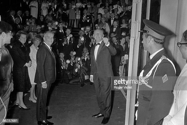 Louis de Funes and Bourvil Premiere 'La Grande Vadrouille' by Gerad Oury Cannes Film Festival 1966 HA1788