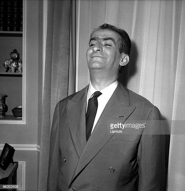 Louis de Funes in 'Faisons un reve' of Sacha Guitry Paris theatre des Varietes april 1957
