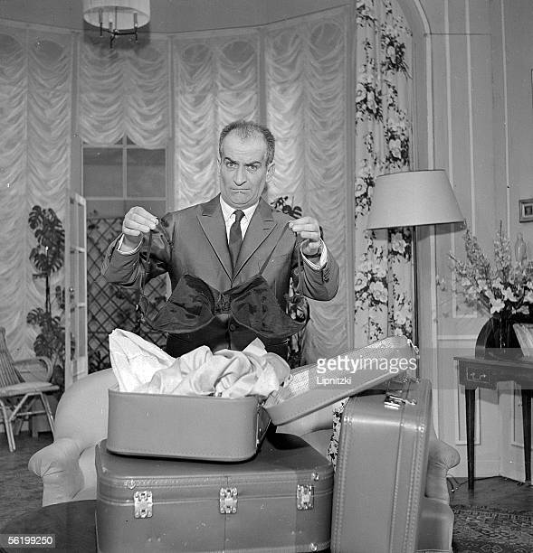 Louis de Funes in 'Oscar' of Claude Magnier Paris theatre de la PorteSaintMartin January 1961