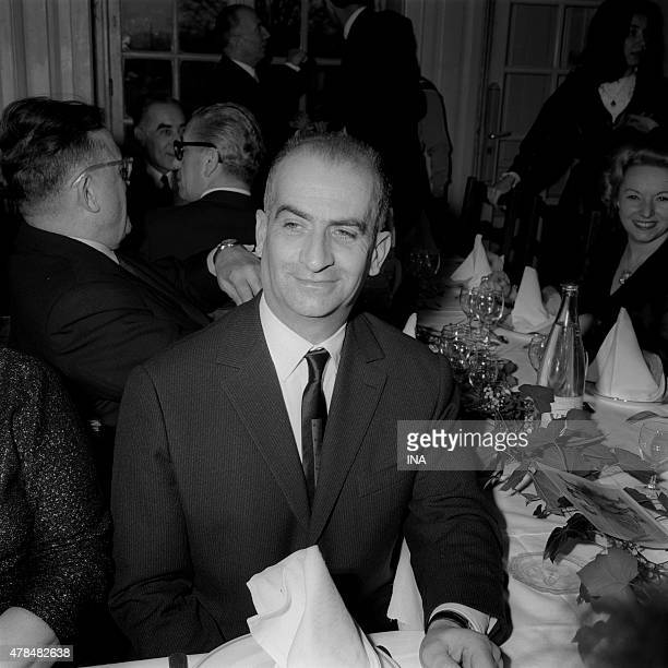Louis de Funes in the annual meal of the former artists to the retirement home of RisOrangis