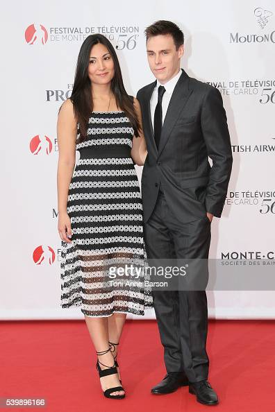 Louis Ducruet and girlfriend arrives at the 56th Monte Carlo TV Festival Opening Ceremony at the Grimaldi Forum on June 12 2016 in MonteCarlo Monaco
