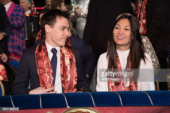 Louis Ducruet and guest attend the 40th International Circus Festival on January 15 2016 in Monaco Monaco