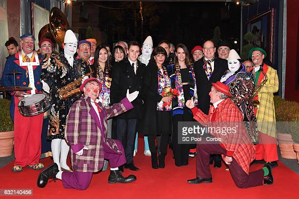 Louis Ducruet and his companion Marie Princess Stephanie of Monaco Pauline Ducruet and Prince Albert II of Monaco attend the 41th MonteCarlo...