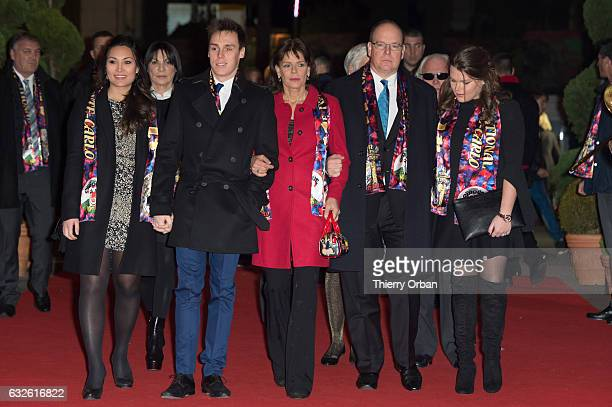 Louis Ducruet and his companion Marie Princess Stephanie of Monaco Prince Albert II of Monaco and Camille Gotlieb attend the 41st MonteCarlo...