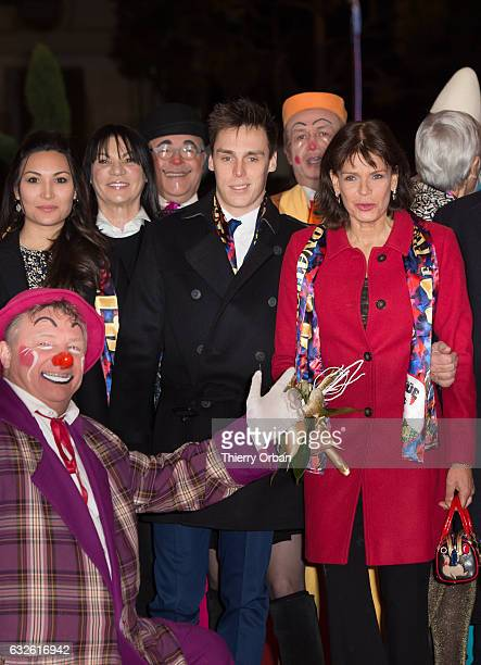 Louis Ducruet and his companion Marie Princess Stephanie of Monaco attend the 41st MonteCarlo International Circus Festival on January 24 2017 in...
