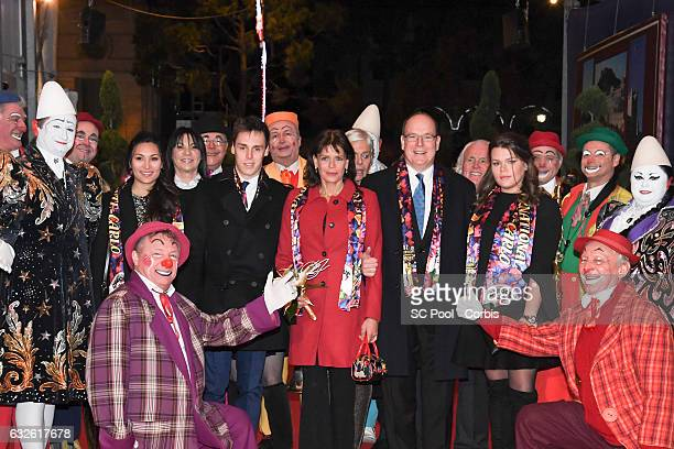 Louis Ducruet and his companion Marie Princess Stephanie of Monaco Prince Albert II of Monaco and Camille Gottlieb attend the 41st MonteCarlo...