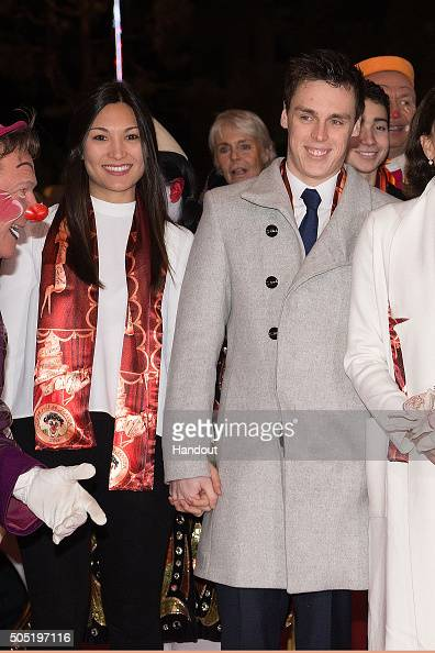 Louis Ducruet and his girfriend Marie attend the 40th International Circus Festival on January 15 2016 in Monaco Monaco
