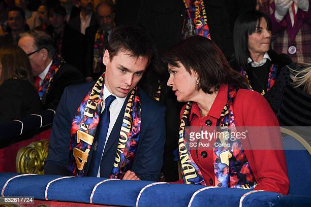 Louis Ducruet and Princess Stephanie of Monaco attend the 41st MonteCarlo International Circus Festival on January 24 2017 in MonteCarlo Monaco