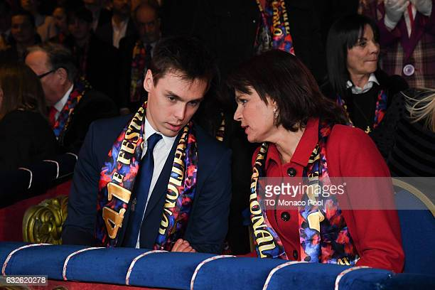 Louis Ducruet and Princess Stephanie of Monaco attend the 41st MonteCarlo International Circus Festival on January 24 2017 in Monaco Monaco