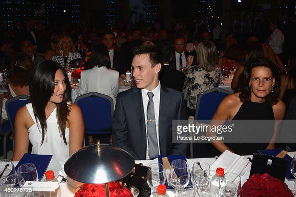 Louis Ducruet and Princess Stephanie of Monaco attend the Fight Aids Charity Gala In MonteCarlo on July 10 2015 in Monaco Monaco