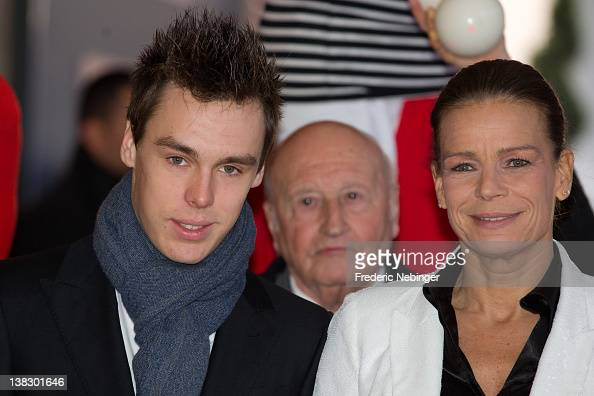 Louis Ducruet and Princess Stephanie of Monaco attend the 'New Generation' First Young Artists Circus Competition in Monaco Award Ceremony at...
