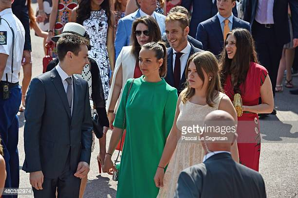 Louis Ducruet Camille Gottlieb Andrea Casiraghi Camille Gottlieb and Tatiana Casiraghi attend the First Day of the 10th Anniversary on the Throne...