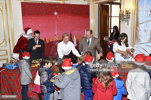 Louis Ducruet Princess Charlene Of Monaco Prince Albert II of Monaco and Camille Gottlieb attend the annual Christmas gifts distribution at Monaco...