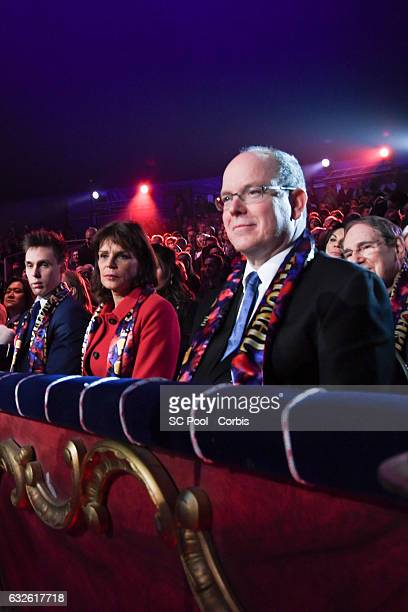 Louis Ducruet Princess Stephanie of Monaco and Prince Albert II of Monaco attend the 41st MonteCarlo International Circus Festival on January 24 2017...