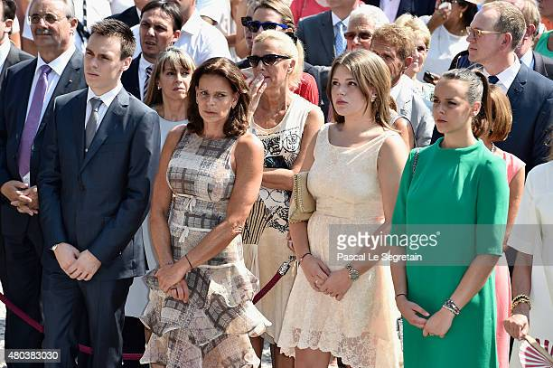 Louis Ducruet Princess Stephanie of Monaco Camille Gottlieb and Pauline Ducruet attend the First Day of the 10th Anniversary on the Throne...