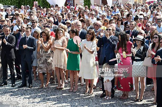 Louis Ducruet Princess Stephanie of Monaco Camille Gottlieb Pauline Ducruet Princess Caroline of Hanover Andrea Casiraghi with Sasha Casiraghi and...
