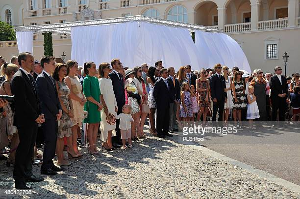 Louis Ducruet Princess Stephanie of Monaco Camille Gottlieb Pauline Ducruet Princess Caroline of Hanover Andrea Casiraghi and Tatiana Casiraghi...
