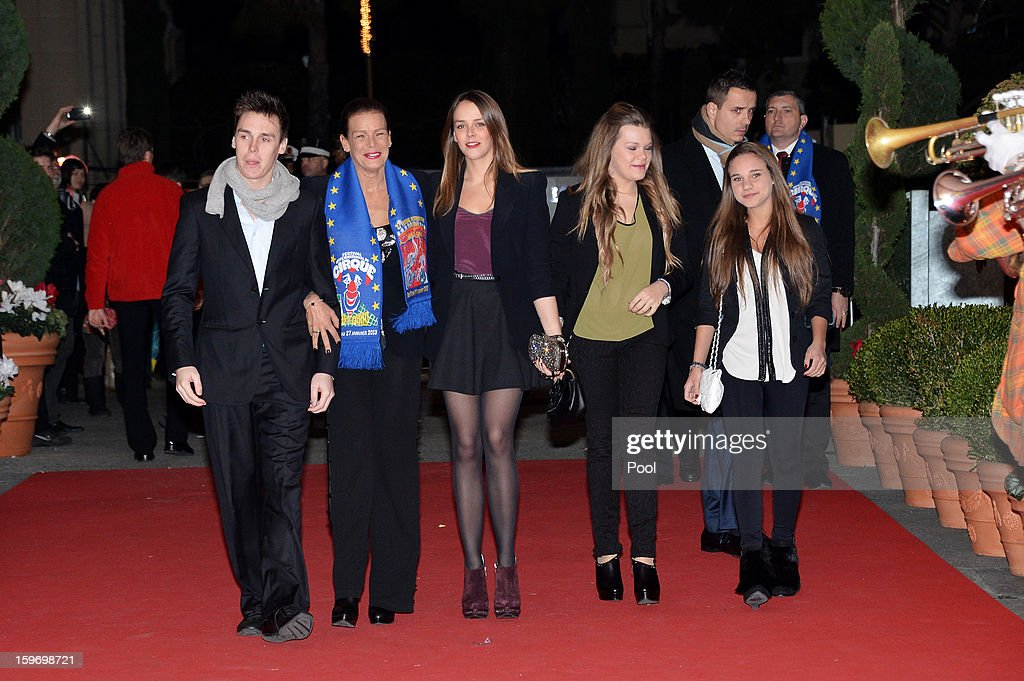 Louis Ducruet, Princess Stephanie of Monaco, Pauline Ducruet and Camille Gotlieb arrive for day two of the Monte-Carlo 37th International Circus Festival on January 18, 2013 in Monte-Carlo, Monaco.