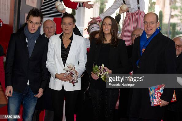Louis Ducruet Princess Stephanie of Monaco Pauline Ducruet and Prince Albert II of Monaco attend the 'New Generation' First Young Artists Circus...