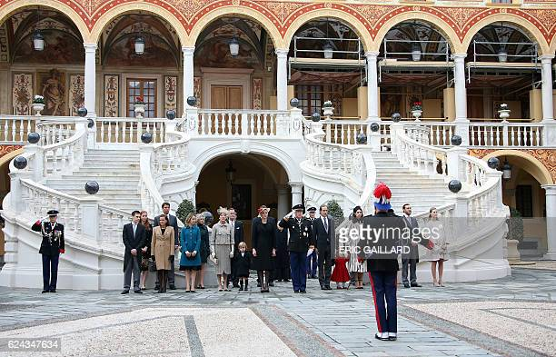 Louis Ducruet Princess Stephanie Princess Alexandra of Hanover Princess Caroline of Hanover Princess Charlene Prince Albert II of Monaco Andrea and...