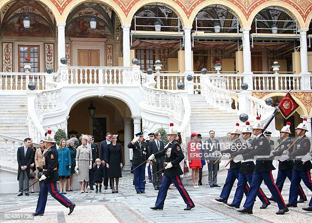 Louis Ducruet Princess Stephanie Princess Alexandra of Hanover Princess Caroline of Hanover Princess Charlene Prince Albert II of Monaco Andrea and...