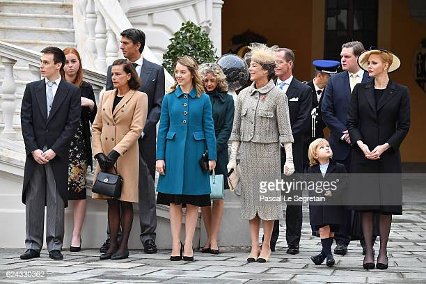 Louis DucruetPrincess Stephanie of Monaco Princess Alexandra of HanoverPrincess Caroline of HanoverSacha CasiraghiPrincess Charlene of Monaco attend...