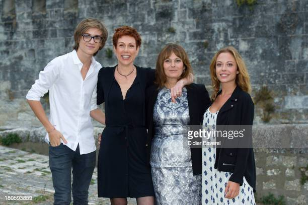 Louis Duneton Marie Reache Cecilia Hornus and Dounia Coesens pose during the photocall of 'Plus Belle La Vie'at 15th Festival of TV Fiction on...