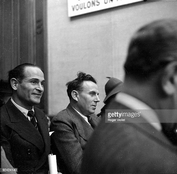 Louis Ferdinand Céline and Lambert during a conference at the antiJewish Institute Paris 1941