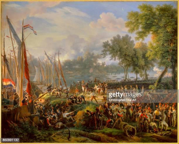 Louis Francois Lejeune Crossing the Rhine at Dusseldorf September 6th 1795 1824 Oil on canvas 213 x 252 m Versailles Chateaux de Versailles et de...